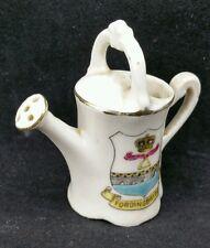 Vintage Edwardian Gemma Crested Ware Watering Can, Fordingbridge, Dorset