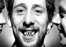 Reproduction Shane MacGowan Poster, Teeth, The Pogues, Black & White