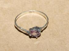 """Vintage 70s Sterling Silver """"Claw"""" & Faceted Oval Amethyst Gemstone Ring sz 8.75"""