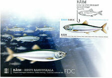 Estonia 2017 FDC Estonian National Fish Baltic Herring 1v Cover Fishes Stamps