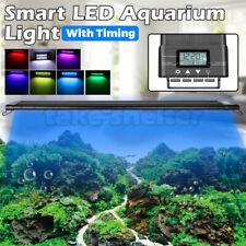 60-90-120CM Aquarium LED Light 1ft /2ft /3ft /4ft Marine Aqua Fish Tank W/Timing