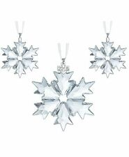 Swarovski Christmas SNOWFLAKES 2018 Ornaments Set of 3 #5357983 New