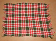 Grün/Weiß/Rot kariertes Woll Tuch/Schal - Abmessungen: ca. 87x71 cm