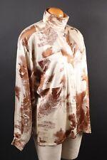 ESCADA 100% Silk Margaretha Ley Wolf Print Blouse Shirt Women's Size 40