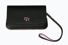 100%GENUINE BlackBerry TORCH 9800 9810  Leather Folio Pouch WITH Mirror &  Strap