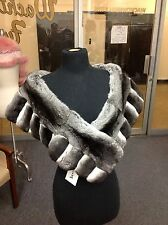 NEW EMPRESS CHINCHILLA CAPE WRAP COLLAR SHAWL STOLE SHRUG COAT at NEIMAN 4 $6995