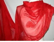 RED GOTH GOTHIC TRIBAL BELLYDANCE BELLY DANCE DANCING VEIL SCARF WRAP COVER UP