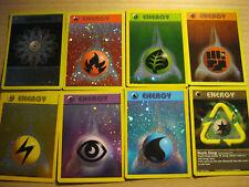 8 X POKEMON PROMO CARDS - COMPLETE ENERGY HOLOFOIL SET (2002) - V RARE