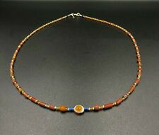 Ancient Lukmik Agate Dzi Bead  with old ancient glass beads from Himalaya