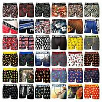 Freegun Assorted Styles Pattern Mens Boxer Underwear Athletic Fit - Multi Pack