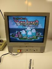 """Sylvania 6520FDE CRT Television 20"""" With Built in DVD Player AV RF 2005 w/Remote"""