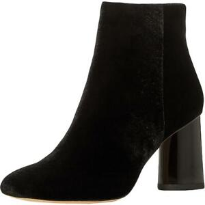 Kate Spade Womens Reenie Velvet Ankle Heel Block Heel Boot Shoes BHFO 6982