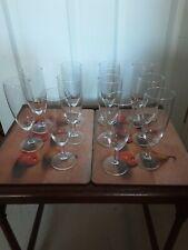 Champagne flutes X 11.   Height  16cm.   Diameter 5cm.   Stem length  3.2cm.