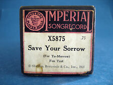 VINTAGE PIANO ROLL - IMPERIAL # X5875 - SAVE YOUR SORROW