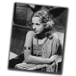 Betty Field FINE ART Vintage Rare Retro Photo Glossy Big Size 8X10in δ009