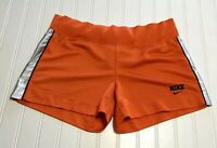 NIKE Women's Size 4-6 Athletic Activewear Shorts Orange Black White Polyester