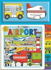 Playtown Airport 3 Fun Board Books Lift the Flap + 2 Mini Bks Kids Toddler New