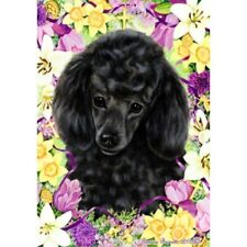 Easter Garden Flag - Black Poodle 330061