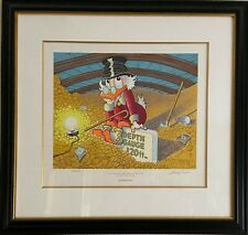 Limited Edition signed by Carl Barks #149/500 - Scrooge sitting in his vault