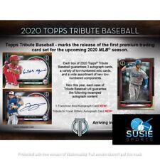 Cleveland Indians! 2020 Topps Tribute Baseball Full Case 6x Break