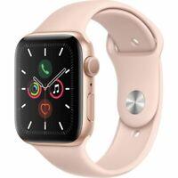Apple Watch Series 5 44mm Boîtier en aluminium ton d'or avec Bracelet Rose