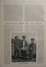 1903 BOER WAR ERA PRINT ~ NATIVE ARMY & THE DURBAR ~ INFANTRY HYDERABAD DOGRAS
