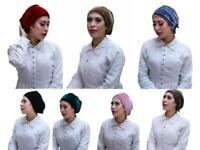 Velvet Turban hat underscarf cap hijab lovely stretchy jersey material chemo