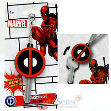 Marvel Deadpool  Logo Key Cap Silicone Rubber Key Holder