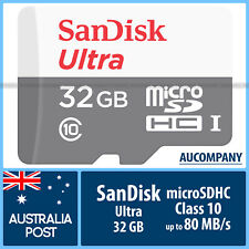 SanDisk Ultra 32 GB 32G Micro SD SDHC Class 10 UHS-I Up To 80MB/s Memory Card TF