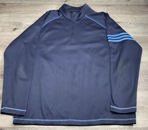 Adidas Golf 1/4 Zip MockNeck Sweater Navy Blue XL XLarge