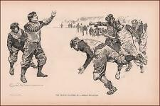 COLLEGE FOOTBALL PLAYERS by Charles Dana Gibson, antique print authentic 1902