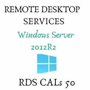 Remote Desktop Services RDS 50 User- Device CALs Server 2012(R2)