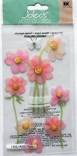 JOLEE'S BOUTIQUE PINK FLOWERS DIMENSIONAL STICKERS  BNIP