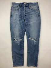 Citizens of Humanity Liya High Rise Classic Fit Crop Jeans Destroyed Size 28