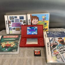 Nintendo DS Lite Game Console Red Bundle With Games