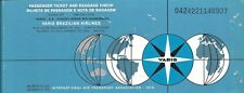 Airline Ticket - VARIG - 2 Flight Format - 1977 (T461)