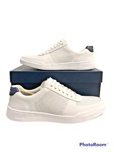 Men's Cole Haan Grand Crosscourt Modern Perf Sneaker Optic White, Peacoat-12