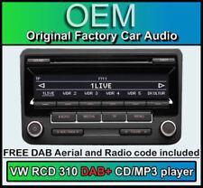 VW Rcd 310 DAB+ Radio, Golf MK6 DAB+ Cd-Player, Digital Radio mit Stereo Code