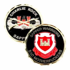 US 44th Army Combat Engineer Sapper Warriors Bad Motherf*ckers Challenge Coin!