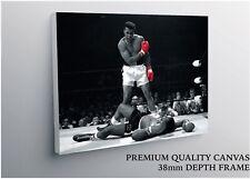 Muhammad Ali vs. Sonny Liston Boxing Large CANVAS Art Print Gift A0 A1 A2 A3 A4