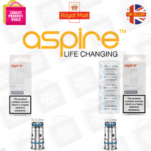 ASPIRE AVP PRO REPLACEMENT COILS AUTHENTIC 0.65OHM / 1.15OHM PACK OF 5 UK Seller