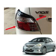For Toyota Vios Yaris Sedan Belta 10 2011 2013 Tail Lamp Light Cover Chrome Trim