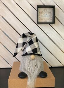 Buffalo Plaid Black/White Handcrafted Gnome BESTSELLER