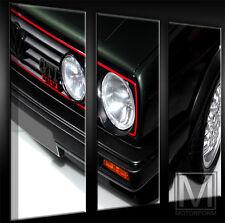 VW GOLF II GTI 16V 16 V LEINWAND auf 3 Keilrahmen Bild Auto Poster Lounge Canvas