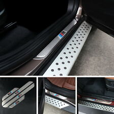 BMW X1 X3 X5 X6 5/1/3/7 Series 2009-2014 4 DOOR SILL GUARD SCUFF STAINLESS STEEL