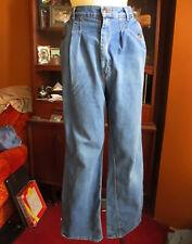 28x30 sz 13 Vtg 70s Super Indigo Raw Denim High Waist Bellbottom Hippy Jeans