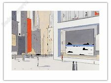 Affiche François Avril Sunny Winter Day Estampe pigmentaire 50ex signée 61x81 cm