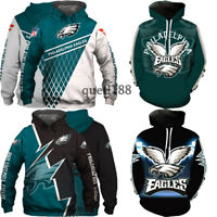 Philadelphia Eagles Hoodie Football Hooded Pullover S-5XL Fans Gift NEW DESIGNS