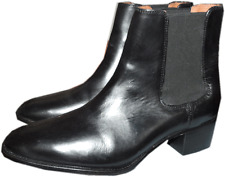 Frye Dorado Chelsea Short Boots Ankle Flat Black Booties Riding Shoe  8.5