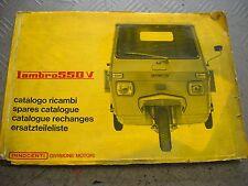 CATALOGO RICAMBI INNOCENTI LAMBR0 550 V EDIZIONE N° 149  ANNO 1969